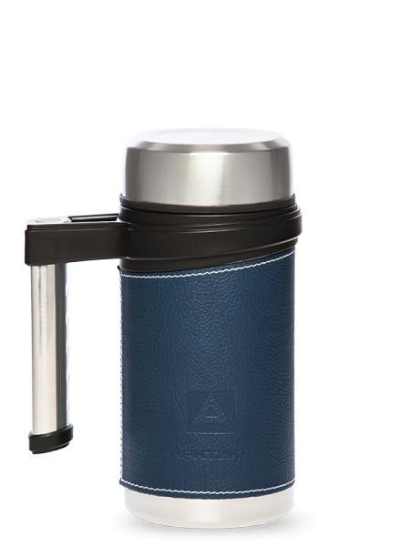 "Термо-кружка с ручкой и ситечком, синяя, ""Арктика"", 500 мл"