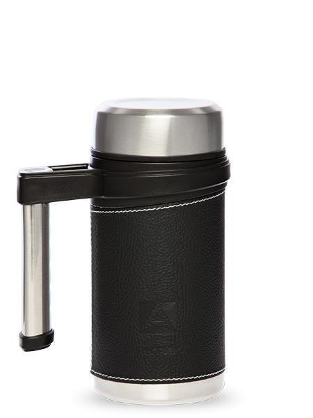 """Термо-кружка с ручкой и ситечком, черная, """"Арктика"""", 500 мл"""