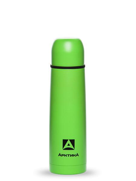 """Термос с узким горлом, зеленый, покрытие с эффектом пластика, """"Арктика"""", 500 мл"""