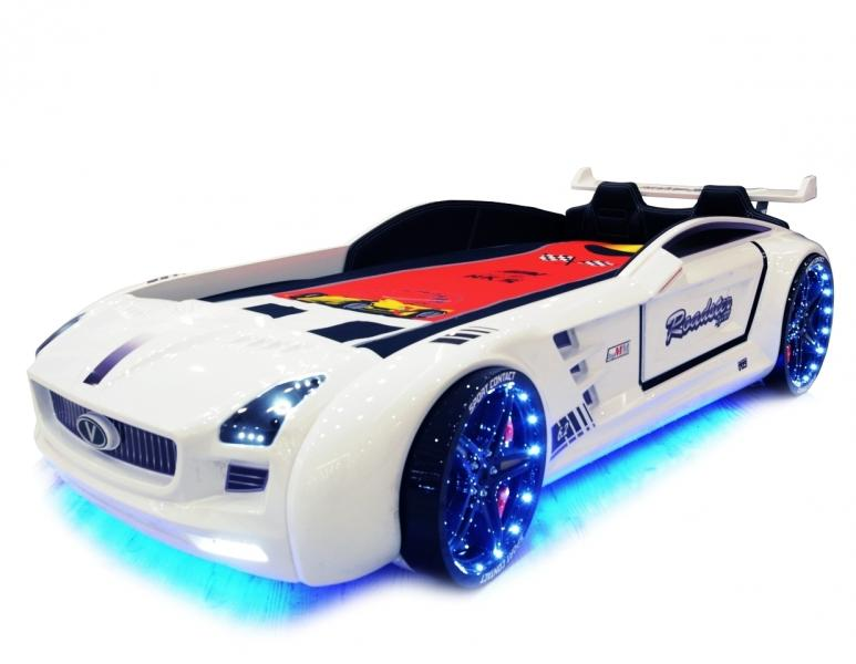 Кровать-машина «ROADSTER», цвет белый