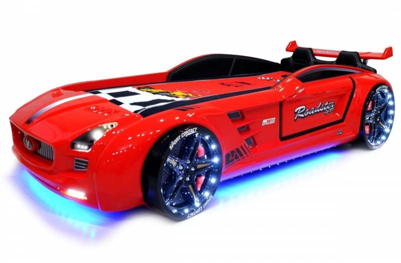 Кровать-машина «ROADSTER», цвет красный
