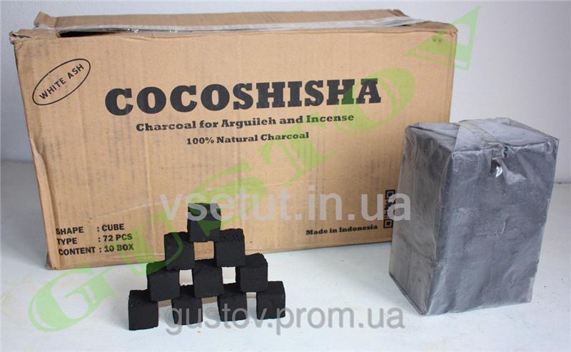 Уголь для кальяна COCOSHISHA. 72 кубика