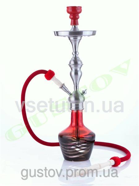 Кальян Aladin - Lima Black Red. 66 см