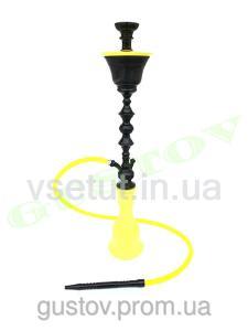 Фото Кальяны, Египетские кальяны Khalil Mamoon Кальян Khalil Mamoon - Zoheria Double Ice Black Yellow. 90 см