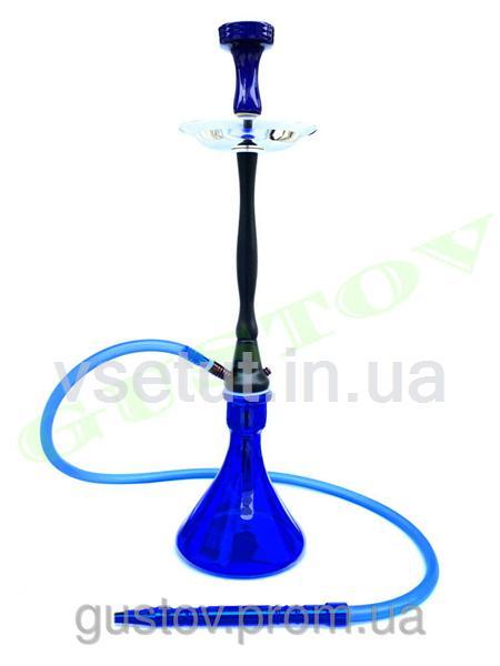 Украинский кальян - RAINBOW HOOKAH Black (Blue Glass) 75 см