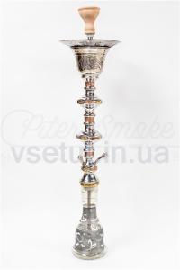 Фото Кальяны, Египетские кальяны Khalil Mamoon Кальян Khalil Mamoon - Double Decker Ice (Khalil Mamoon Gold), 95см