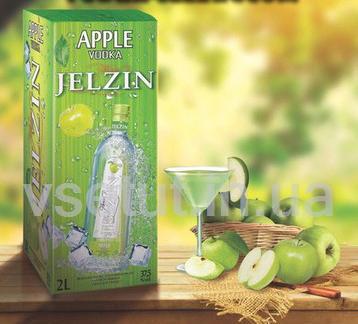Водка Boris Jelzin apple (Борис Ельцин яблоко 2л)