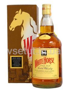Фото Алкогольные напитки, Элитный алкоголь, Элитный виски Виски White horse 1л