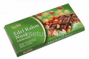 Фото Шоколад Шоколад молочный Edel Rahm Nuss с цельными лесными орехами 200 г