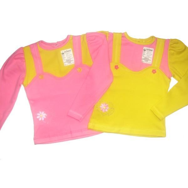 Блуза-кармашек интерлок однотонный