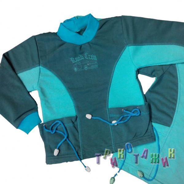Джемпер Тимур с вышивкой.3-х нитка однотонная
