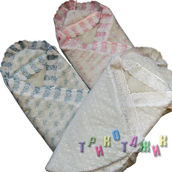 Конверт-одеяло для новорожденного на липучках