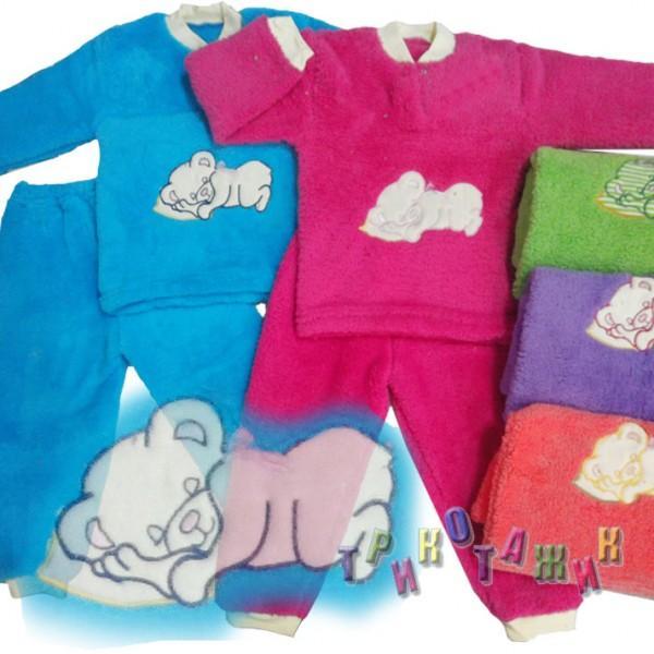 Пижама с вышивкою рваная махра