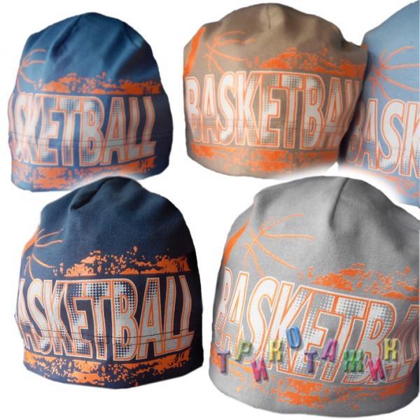 Шапочка Basketball. Интерлок-стрейч