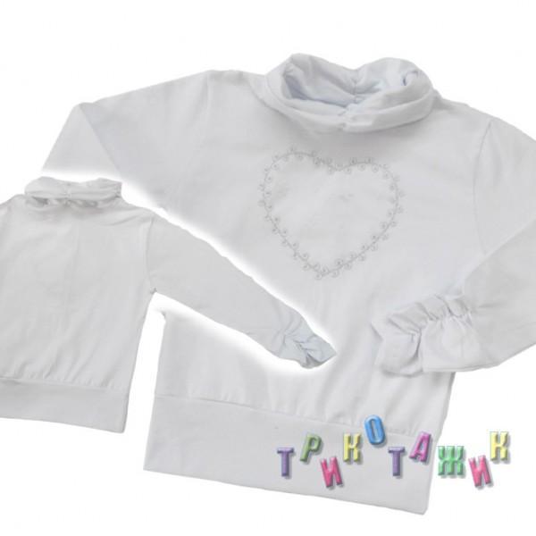 Блуза Инга стрейч кулир белый