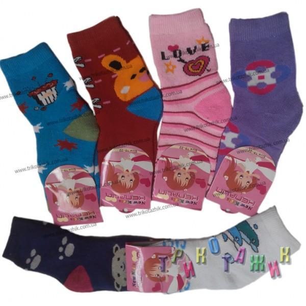 Носочки махровые для девочек (3-8 лет)