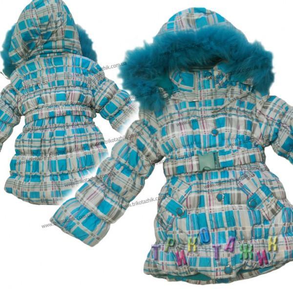 Куртка-пальто для девочки с жилеткой. Сезон Зима.