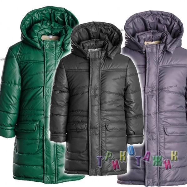 Куртка удлинённая зимняя на рост 104-122 см