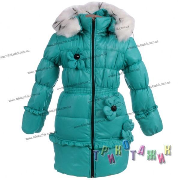 Куртка-пальто для девочки Юля (Украина). Сезон Зима.