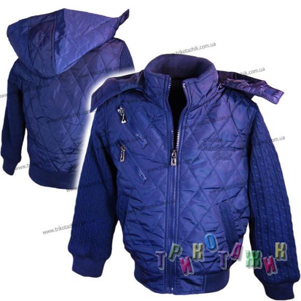 Куртка стёганная с вязаными рукавами