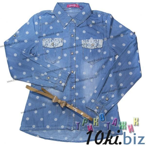 Джинсовая блуза с поясом - Туники, блузки детские для девочек на Хмельницком рынке
