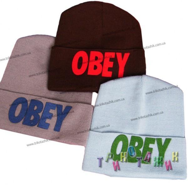 Шапка вязаная для девочки Obey