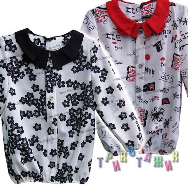 Блуза школьная, модель 12