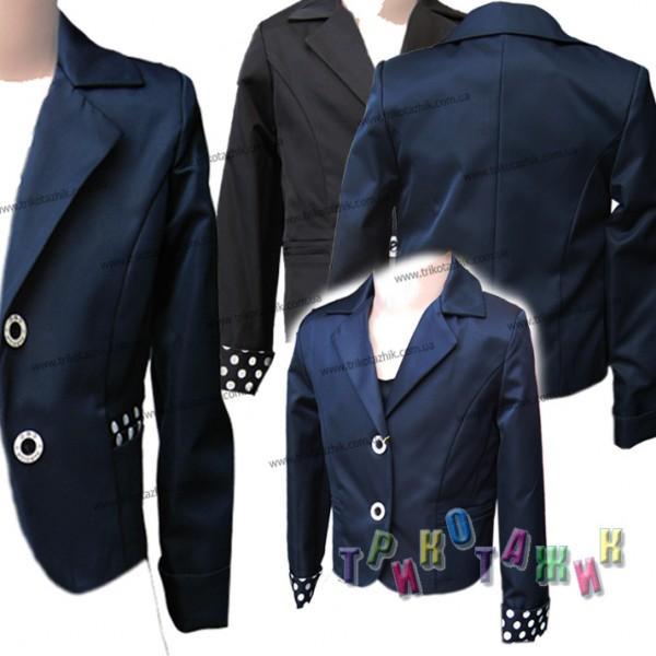 Пиджак школьный Горошек