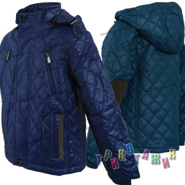 Куртка для мальчика с заплатками на локтях м013. Сезон Весна-Осень.