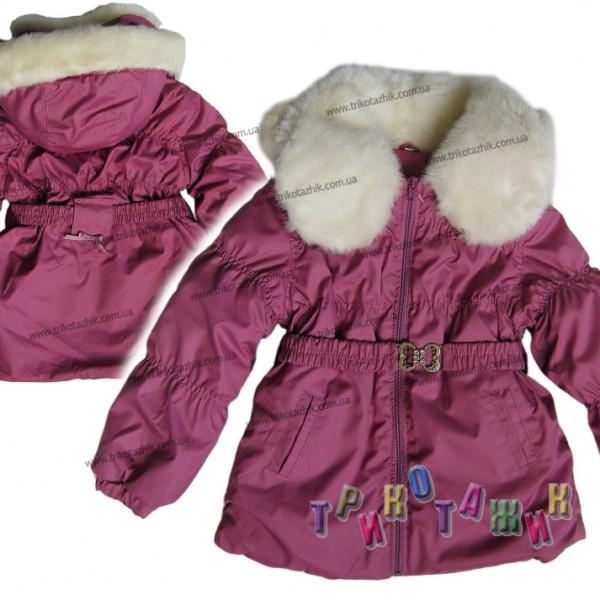 Куртка с меховым воротником. Сезон Зима.