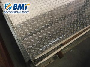 Фото Алюминиевый лист рифленный Алюминиевый рифленый лист 1,0 мм (алмаз, дуэт, квинтет, чечевица)