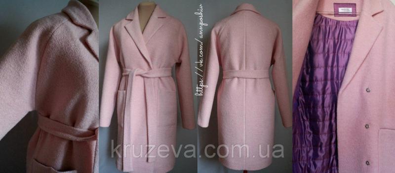 Пальто женское из шерстяного букле