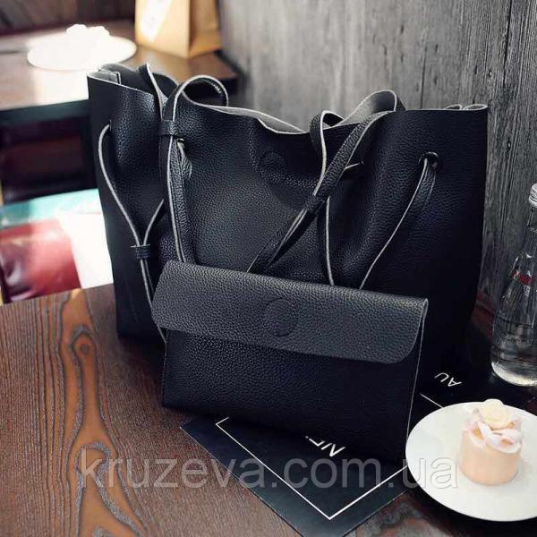 Женская сумка + кошелек Черный