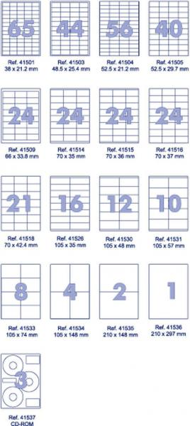 Наклейки А4 (100 листов, 105*57мм, 10шт)