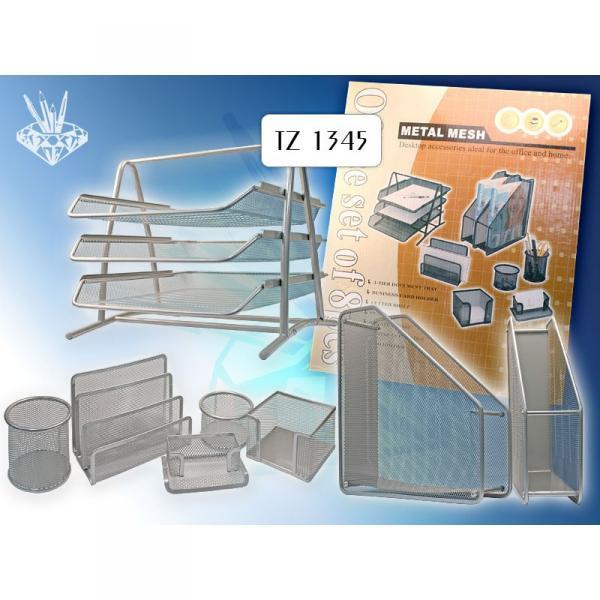 TUKZAR Настольный набор офисный, 8 предметов, серый цвет TZ 1345 S