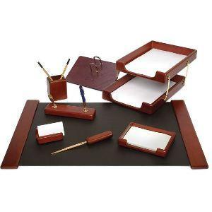 Набор настольный FORPUS, 8 предметов, дерево, коричневый