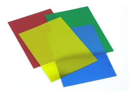 Лицевая обложка А4 для переплета, пластик 200мкр (прозрачно-дымчатая)