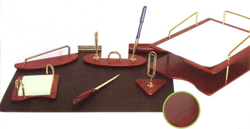 FORPUS Набор настольный премиум, деревянный, 7 предметов