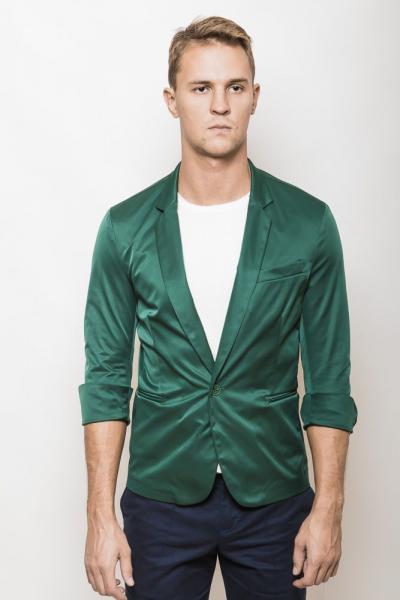 Пиджак 2437/1 (Темно-зеленый)