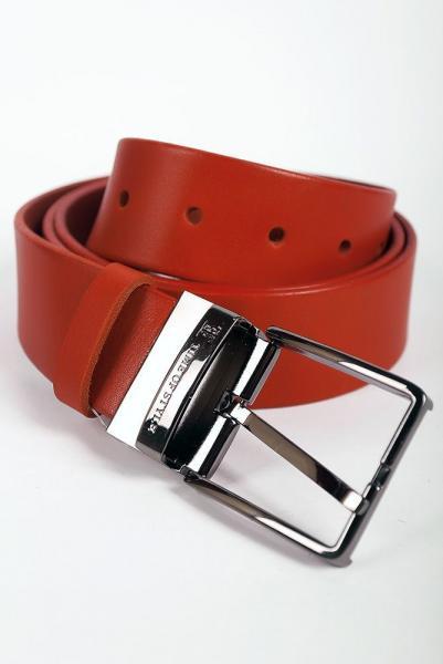 Ремень кожаный мужской 030001 (Терракотовый)