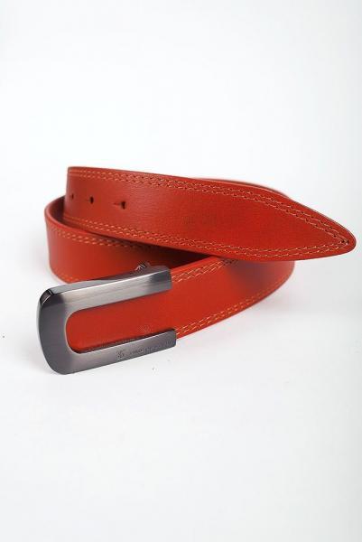 Ремень кожаный средней ширины 03002 (ш) (Терракотовый)