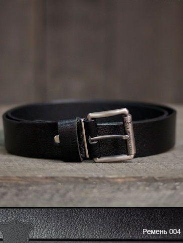 Ремень мужской кожаный 03004 (Черный)