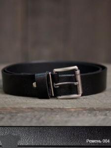 Фото  Ремень мужской кожаный 03004 (Черный)