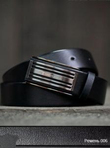 Фото  Ремень кожаный 03006 (Черный)