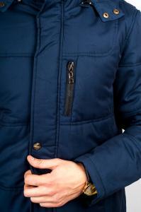 Фото  Куртка мужская длинная №245M026 (Синий)