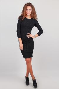 Фото  Платье женское теплое, выше колена №246F003 (Черный)