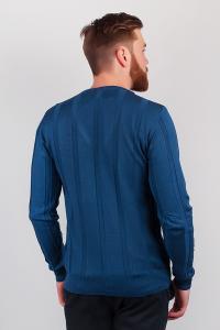 Фото  Кофта мужская на пуговицах №82F009 (Синий)
