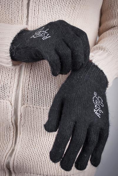 Перчатки женские теплые №17P004 (Черный)