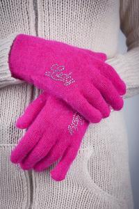 Фото  Перчатки женские теплые №17P004 (Ярко-розовый)
