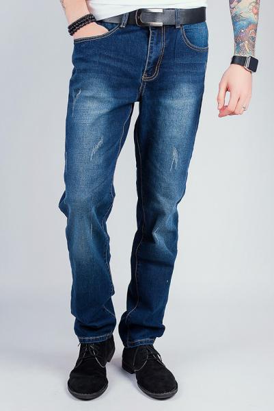 Джинсы мужские синие, прямые 310К001 (Темно-синий)